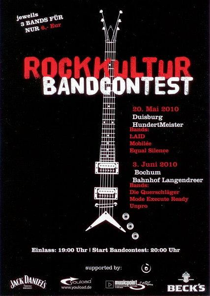 Promotionbild zur Veranstaltung Rockkultur Bandcontest